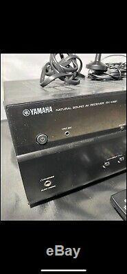 Yamaha RX-V481 AV Receiver Wireless Bluetooth HDMI Natural Sound Remote Bundle
