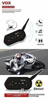 1200m E6 Plus Motorcycle Intercom Avec Télécommande Sans Fil Bluetooth Headset Contrôle