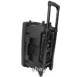 12 Haut-parleur Audio À Distance Portable Avec Microphone Sans Fil Bluetooth Usb