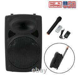 12 Haut-parleur Bluetooth Sans Fil De Partie Portable Rechargeable Avec Télécommande Microphone