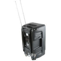 12 Pa Bluetooth Haut-parleur Karaoke Party Dj Audio Usb/tf/sd 2 Mics Sans Fil À Distance