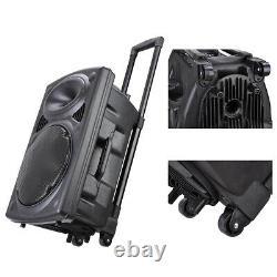 12 Portable Active Dj Pa Haut-parleur Bluetooth Usb Avec Microphone Sans Fil / Télécommande