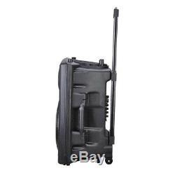 12 Portable Bluetooth Sans Fil Usb Karaoke Haut-parleur À Distance Fm Dj Microphone