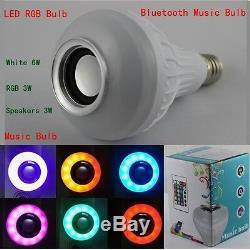 12w Puissance E27 Led Rgb Bluetooth Haut-parleur Ampoule Lampe Lumière Jouer De La Musique