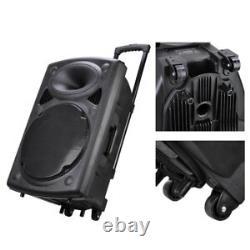 1500w 15 Haut-parleur Portable À Distance Pa Avec Usb Bluetooth Sans Fil Microp