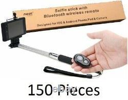 150 Pièces Noot 3360454 Stick De Selfie Extensible Bluetooth Télécommande Sans Fil Bulk