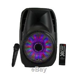 15 Bluetooth Coffre Portable Pa Enceintes MIC Microphone Witht & A Distance