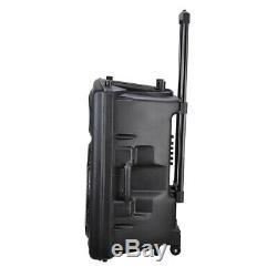 15 Haut-parleur Portable Actif Pa Carte Sd Sans Fil Bluetooth Usb Avec Micro Et Télécommande
