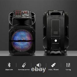 15 Portable Bluetooth Haut-parleur Sans Fil Outdoor Intense Basse Rbg Light Remote