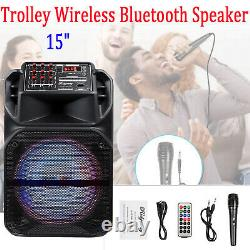 15 Trolley Party Bluetooth Haut-parleur Sans Fil Stereo Loud Withled Light Remote USA