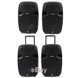 2000 W Double 12 2 Voies Avec Haut-parleurs Bluetooth Powered Télécommande Sans Fil