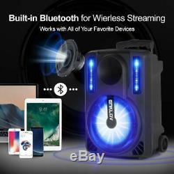 20 Haut-parleur Portable Bluetooth Sans Fil Système De Karaoké Avec Télécommande Et 2 MIC