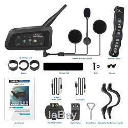 2pcs Lexin Casque Moto A4 Casque Bluetooth Intercom Avec Télécommande