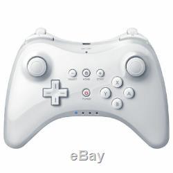 2x Blanc U Pro Bluetooth Télécommande Sans Fil Pour Manette De Jeu Wii U Console