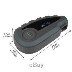 2x Bluetooth Casque De Moto Intercom Télécommande Casque Bt 8 Pilote 1200m