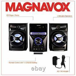 3-piece Shelf Stereo System CD Digital Pll Fm Radio Bluetooth Wireless Remote