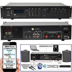 400w Amplifieur Bluetooth Stéréo 2 Channel Mixer Ampli Hifi- Haut-parleur Sans Fil