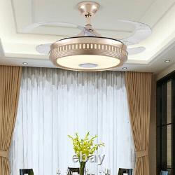 42 Lampe De Musique Sans Fil Pour Ventilateur De Plafond Bluetooth Led Avec Télécommande 110v
