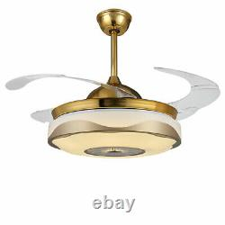 42 Led Moderne Ventilateur Au Plafond Lumière Sans Fil Bluetooth À Distance Lustre De Contrôle Des États-unis