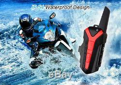 4x Moto Bleu-dent Casque Intercom Casque Sans Fil À Distance 400-470mhz Ppt