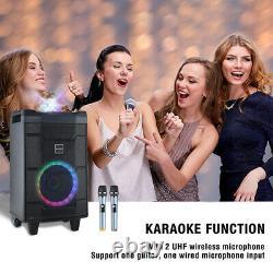 500w Bluetooth Karaoke Machine Sans Fil Pa Speaker System 2 Sans Fil MIC Remote
