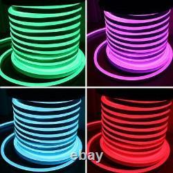 50m Rgb Neon Flex 220v Rgb Rope Light Ip67 Imperméable Rgb Led Bande Utilisation Extérieure