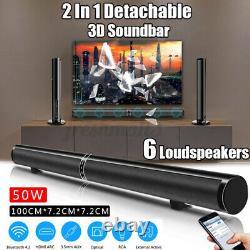 50w Sans Fil Bluetooth 5.1 Soundbar Stéréo 8 Haut-parleur À Distance Caisson De Basse Echo-mur