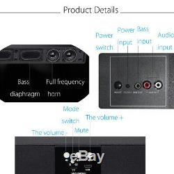 60w Home Theater Soundbar Speaker Sound Bar Bluetooth Télécommande Sans Fil Fm Radio