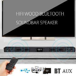 60w Sans Fil Bluetooth Sound Bar 5.1 Soundbar 8 Haut-parleur À Distance Home Tv Théâtre