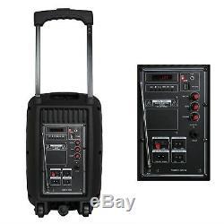 8 Bluetooth Portable Dj Party Pa Président Télécommande Sans Fil MIC Micprophone Mp3