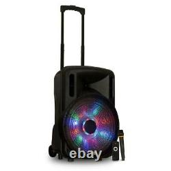 Acoustic Audio Party Speaker 15 Pouces Led Bluetooth Wireless Microphone Remote