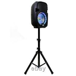 Active 10 Dj Karaoke Speaker & Stand Bluetooth Led Wireless MIC Cables Distant