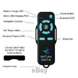 Airturn Digit III Bluetooth Multifonction Télécommande Sans Fil Musique 0ship