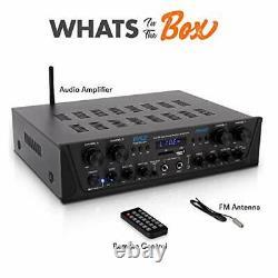 Amplificateur Bluetooth Sans Fil 500w Karaoke 4 Canaux Stereo Audio Home Theater