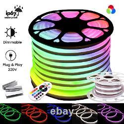 Atom Led 220 V Rgb Neon Flex Lumière 5050 Ip67 Lumière Extérieure Rvb Neon Flex Uk Plug