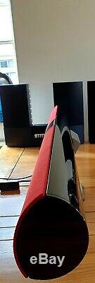 B & O Beolab 3500 Mk2 Bluetooth Table Stand Noir / Rouge Condition À Distance Superbe