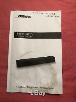 Barre De Son Audio Bose Solo 5 Tv, Bluetooth, Télécommande Universelle Noir