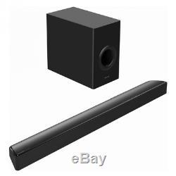 Barre De Son Panasonic À 2,1 Canaux Avec Télécommande Sans Fil Pour Caisson De Graves Noir Nouveau