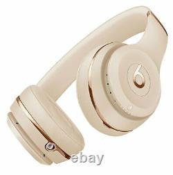 Beats By Dre Solo 3 Bluetooth Sans Fil Casques À L'oreille Avec Mic/remote Satin Gold