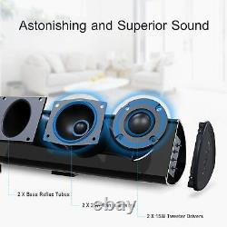 Bestisan 80watt 34sound Bar Bluetooth 5.0 Wireless Movie Home Télécommande