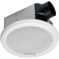 Blanc Salle De Bains Hotte Vent Bluetooth Stéréo Sans Fil Haut-parleur Lumière À Distance