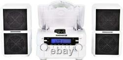 Bluetooth 3-piece Compact Plate-forme CD Am/fm Stéréo Sans Fil LCD Aux Remote