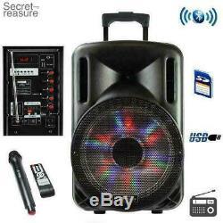 Bluetooth Portable Sans Fil 2500 Watts Enceinte De Sonorisation Avec Microphone Et Télécommande