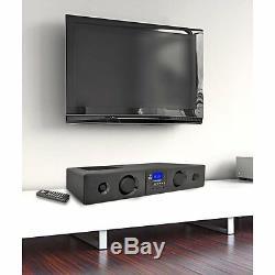 Bluetooth Pyle Tv Soundbar Son Surround 3d Système De Haut-parleurs Usb / Sd Aux Télécommande Fm
