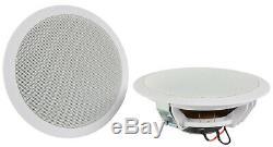 Bluetooth Sans Fil Mur D'amplis Haut-parleurs De Plafond Stéréo Kit Usb Fm Aux Sd À Distance