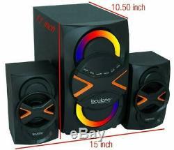 Bluetooth Stéréo Système Accueil Audio Mp3 Aux Usb Am \ Fm Radio Télécommande Sans Fil Nouveau