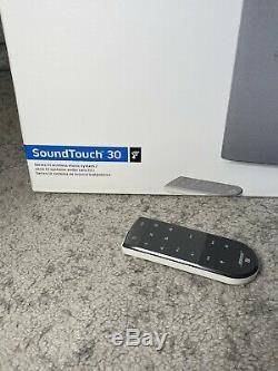Bose Nouveau Soundtouch 30 Système De Musique Sans Fil Blanc + Bose Extra Télécommande
