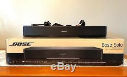 Bose Solo 15 Système Tv + Batteries Câbles Optiques À Distance Gratuit Numérique-rca Et Box