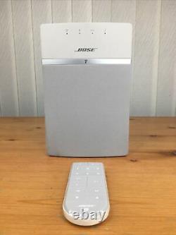 Bose Soundtouch 10 Système De Musique Sans Fil Avec Bluetooth Blanc À Distance Et Wifi