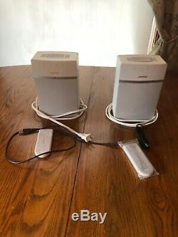 Bose Soundtouch 10 White Pair 416776 Withremote & Cable Used